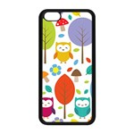 Cute Owl Apple iPhone 5C Seamless Case (Black) Front