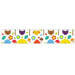 Cute Owl Flano Scarf (large) by Nexatart