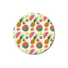Fruits Pattern Magnet 3  (round) by Nexatart