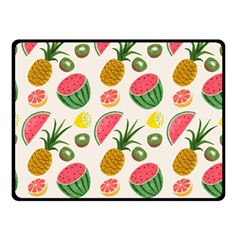 Fruits Pattern Double Sided Fleece Blanket (small)  by Nexatart