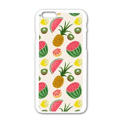 Fruits Pattern Apple Iphone 6/6s White Enamel Case by Nexatart