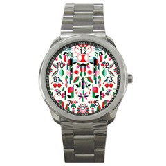 Abstract Peacock Sport Metal Watch