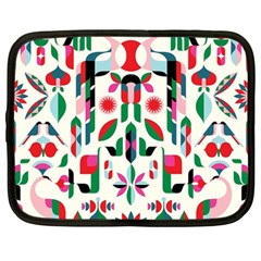 Abstract Peacock Netbook Case (large) by Nexatart