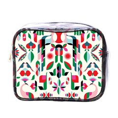 Abstract Peacock Mini Toiletries Bags