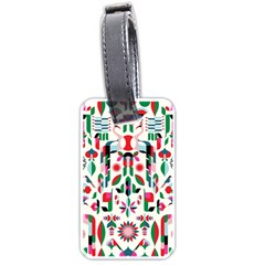 Abstract Peacock Luggage Tags (one Side)  by Nexatart