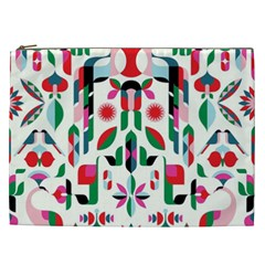 Abstract Peacock Cosmetic Bag (xxl)