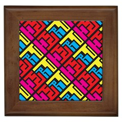 Hert Graffiti Pattern Framed Tiles by Nexatart