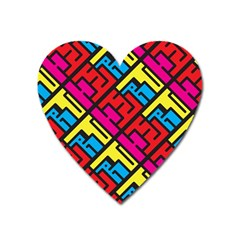 Hert Graffiti Pattern Heart Magnet by Nexatart