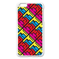 Hert Graffiti Pattern Apple Iphone 6 Plus/6s Plus Enamel White Case by Nexatart