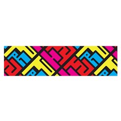 Hert Graffiti Pattern Satin Scarf (oblong)