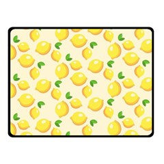 Lemons Pattern Fleece Blanket (small) by Nexatart