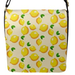 Lemons Pattern Flap Messenger Bag (s) by Nexatart