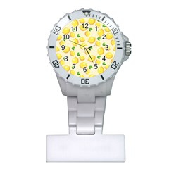 Lemons Pattern Plastic Nurses Watch