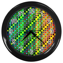 Patterns For Wallpaper Wall Clocks (black) by Nexatart