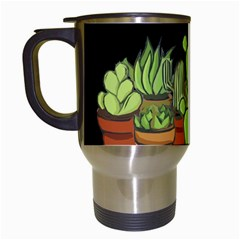 Cactus   Dont Be A Prick Travel Mugs (white) by Valentinaart
