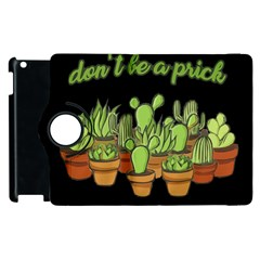 Cactus   Dont Be A Prick Apple Ipad 3/4 Flip 360 Case by Valentinaart