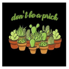 Cactus   Dont Be A Prick Large Satin Scarf (square)