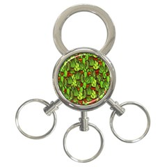Cactus 3 Ring Key Chains by Valentinaart