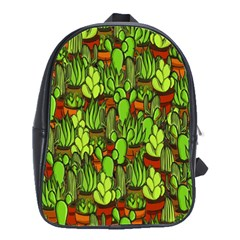 Cactus School Bags(large)  by Valentinaart