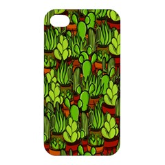 Cactus Apple Iphone 4/4s Premium Hardshell Case by Valentinaart