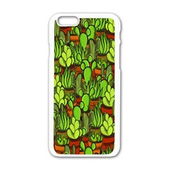Cactus Apple Iphone 6/6s White Enamel Case by Valentinaart