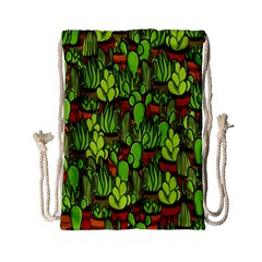 Cactus Drawstring Bag (small) by Valentinaart