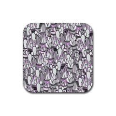 Cactus Rubber Square Coaster (4 Pack)  by Valentinaart