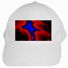 Space Red Blue Black Line Light White Cap by Mariart