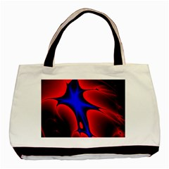 Space Red Blue Black Line Light Basic Tote Bag (two Sides) by Mariart