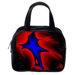 Space Red Blue Black Line Light Classic Handbags (one Side) by Mariart