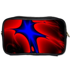 Space Red Blue Black Line Light Toiletries Bags