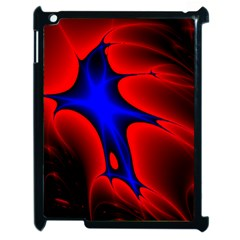 Space Red Blue Black Line Light Apple Ipad 2 Case (black) by Mariart