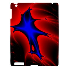 Space Red Blue Black Line Light Apple Ipad 3/4 Hardshell Case by Mariart