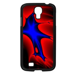 Space Red Blue Black Line Light Samsung Galaxy S4 I9500/ I9505 Case (black) by Mariart