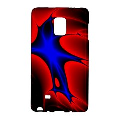 Space Red Blue Black Line Light Galaxy Note Edge by Mariart