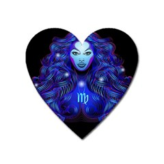 Sign Virgo Zodiac Heart Magnet by Mariart