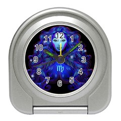 Sign Virgo Zodiac Travel Alarm Clocks by Mariart