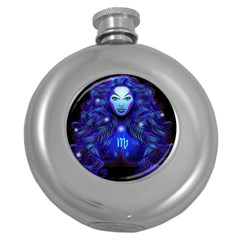 Sign Virgo Zodiac Round Hip Flask (5 Oz) by Mariart