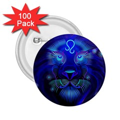 Sign Leo Zodiac 2 25  Buttons (100 Pack)