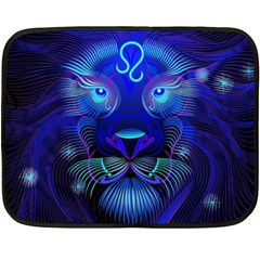 Sign Leo Zodiac Double Sided Fleece Blanket (mini)  by Mariart