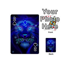 Sign Leo Zodiac Playing Cards 54 (mini)  by Mariart