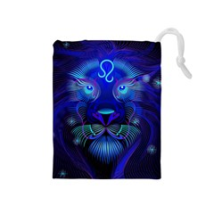 Sign Leo Zodiac Drawstring Pouches (medium)  by Mariart