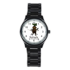Mandrake Plant Stainless Steel Round Watch