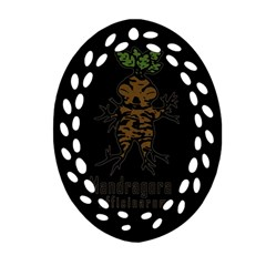 Mandrake Plant Ornament (oval Filigree) by Valentinaart