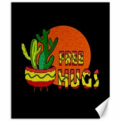 Cactus - Free Hugs Canvas 20  X 24   by Valentinaart