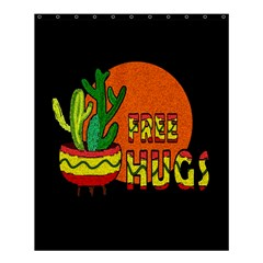 Cactus   Free Hugs Shower Curtain 60  X 72  (medium)  by Valentinaart