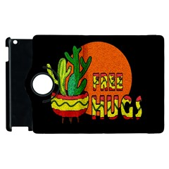 Cactus   Free Hugs Apple Ipad 3/4 Flip 360 Case by Valentinaart