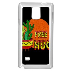 Cactus   Free Hugs Samsung Galaxy Note 4 Case (white) by Valentinaart
