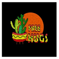 Cactus   Free Hugs Large Satin Scarf (square) by Valentinaart