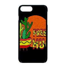 Cactus   Free Hugs Apple Iphone 7 Plus Seamless Case (black) by Valentinaart